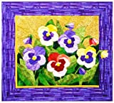 Pansy Spring Flower Quilt Foundation Pieced Pattern
