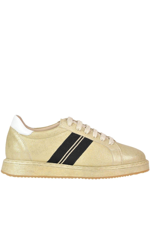 - BRUNELLO CUCINELLI Women's MCGLCAK000005002E gold Leather Sneakers