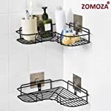 ZOMOZA Wrought Iron Kitchen Tripod Bathroom Corner Storage Shelves and Racks (Multicolour, 36x26.7x6 cm)