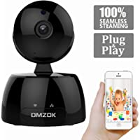 DMZOK WiFi Security Camera,IP Camera, Nanny Cam, Baby Camera Pet Camera, HD 720P Indoor Home Camera Monitor with Pan Tilt Zoom, Night Vision, Two Way Audio Motion Detection