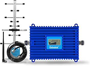 Lintratek 4G LTE Band 12/Band 17 Cell Phone Signal Booster Amplifier AT&T T-Mobile U.S. Cellular Straight Talk Phone Signal Repeater Antenna for Home/Office/Basement AGC Function