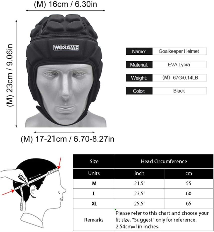 Motorcycle Skating Head Protector Helmet Soccer Sports Guard Protective Headgear