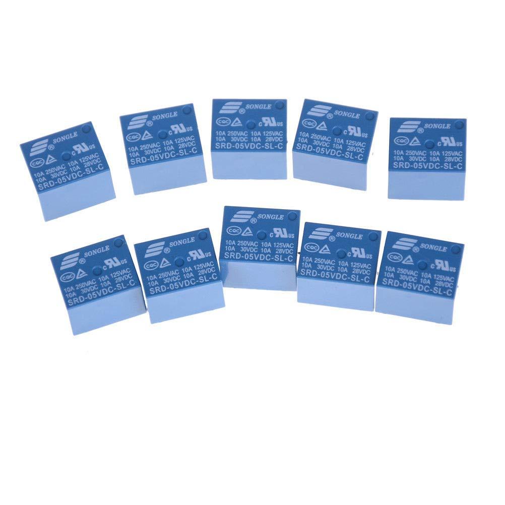 SRD-5VDC-SL-C DC//5V 10A Power Relay  PCB Type 10pcs