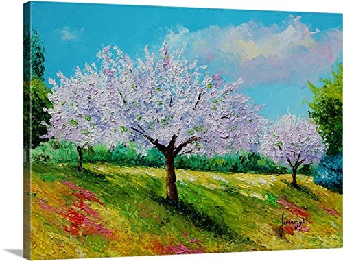 Gallery-Wrapped Canvas entitled Orchard blossom by Jean-Marc Janiaczyk 30