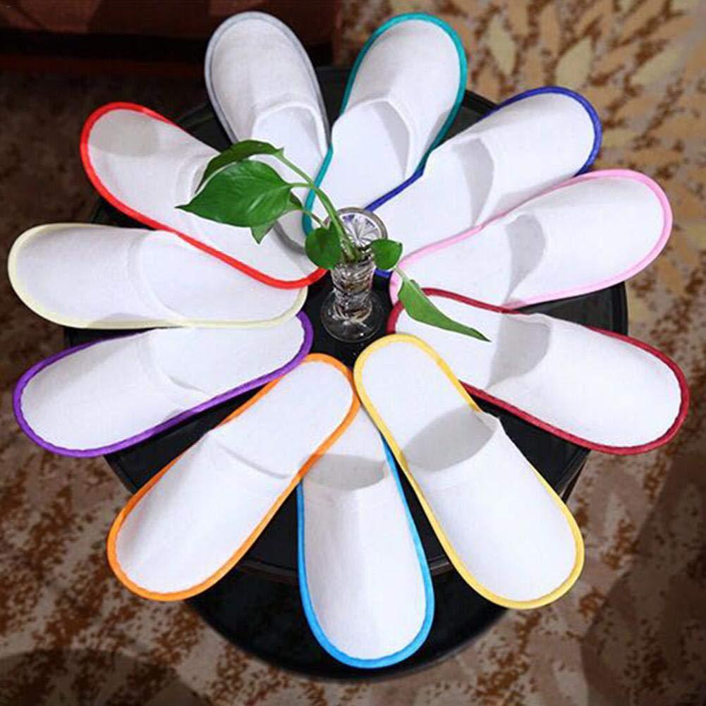 Zapatillas de SPA Desechables para el ba/ño los hu/éspedes del Travel Home Wedding Hotel utilizan Xploit 10 Pares de Zapatillas de Hotel con Puntera Cerrada