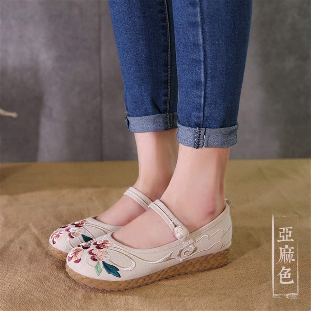 Dancing Shoes-YU/&Xin Womens Shoes Cow Ribbed Soles Cloth Shoes Embroidered Shoes