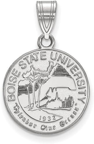 White Sterling Silver Charm Pendant Idaho NCAA Boise State University 26 mm 22