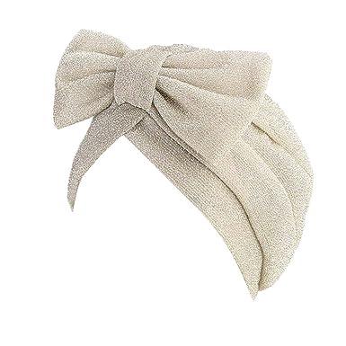 01323111e9892b Zycshang Hat Fashion Design for Women Ladies Retro Solid Bow Hat Turban  Brim Hat Cap Pile Cap (Beige): Amazon.co.uk: Clothing