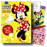 minnie mouse school supplies - Minnie Mouse Coloring Book Pack with Stickers, Crayons and Coloring Activity Book Bundled with 1 Separately Licensed GWW Coloring Fun Reward Sticker