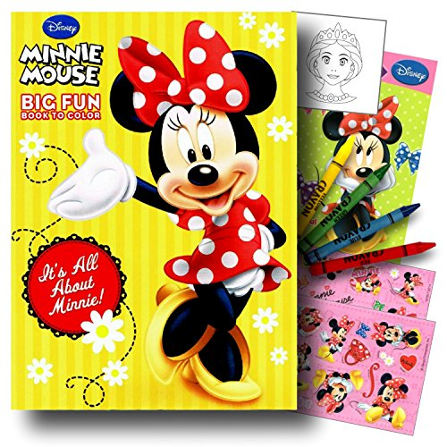 Minnie Mouse Coloring Book Pack with Stickers, Crayons and Coloring Activity Book
