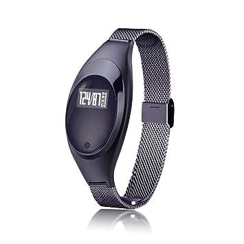 WETERS Rastreador De Actividad Rastreador De Actividad Reloj Monitor De Ritmo Cardíaco Impermeable Joyería De Metal