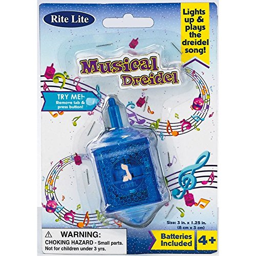 Rite Lite LTD The Musical Dreidel Lights Up - Assorted Colors - Single Piece -