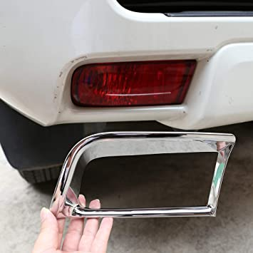 2PCS Chrome Car Rear Tail Light Lamp Cover Trim For Toyota Prado FJ150 2014-2018