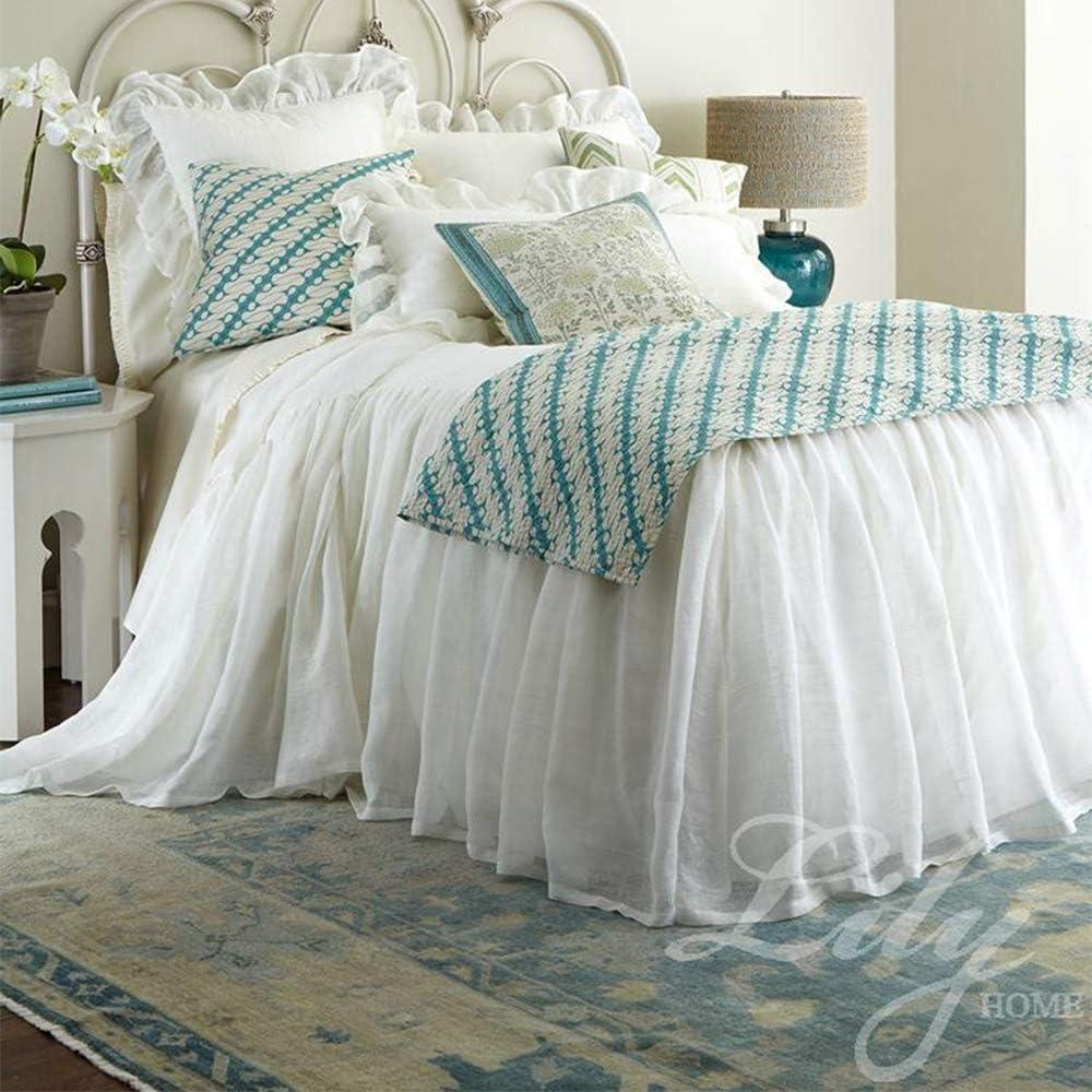Falda única de cama de color sólido, envoltura de cama de microfibra con plataforma, funda de colchón de calidad hotelera Funda de colchón resistente a las arrugas y a la decoloración,40