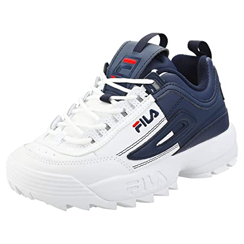 43718c860ad5cc Fila Disruptor Ii Premium Split Womens Platform Trainers in White Navy - 3  UK  Amazon.co.uk  Shoes   Bags