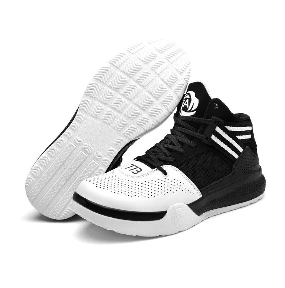 YXLONG Modelos De De De Explosión De Los Hombres Zapatos Azules Respirables Juventud Patín Deportes Alta Ayuda Zapatos De Baloncesto Botas De Cemento,Blanco-37 d18f53