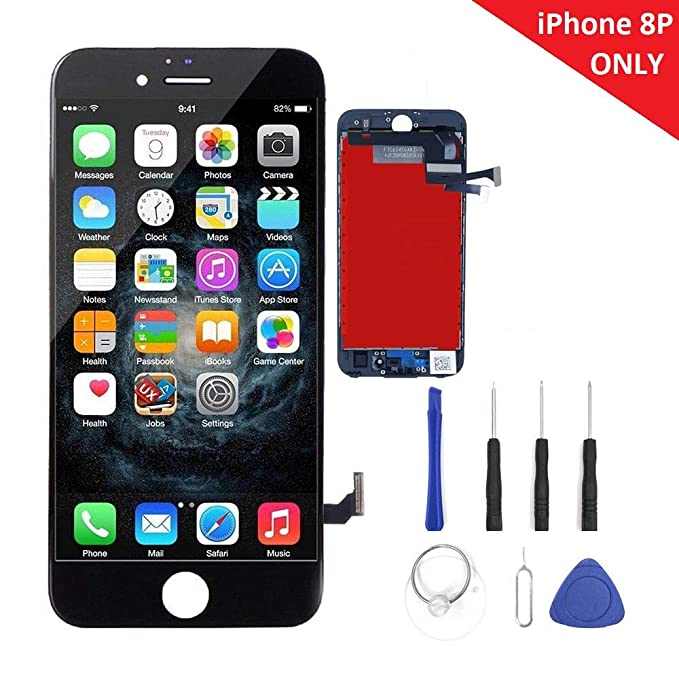 pretty nice 69cd5 7fa8b Turtlescreen Premium Quality Replacement Screen Compatible with iPhone 8  Plus 5.5