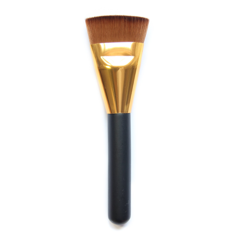 Professional Flat Contour Make Up Brush Big Face Blend Makeup Brush Golden Elisona