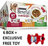 Purina Beneful Medleys Variety Pack Dog Food 27-3 oz. Cans (6 Box + Free Toy)