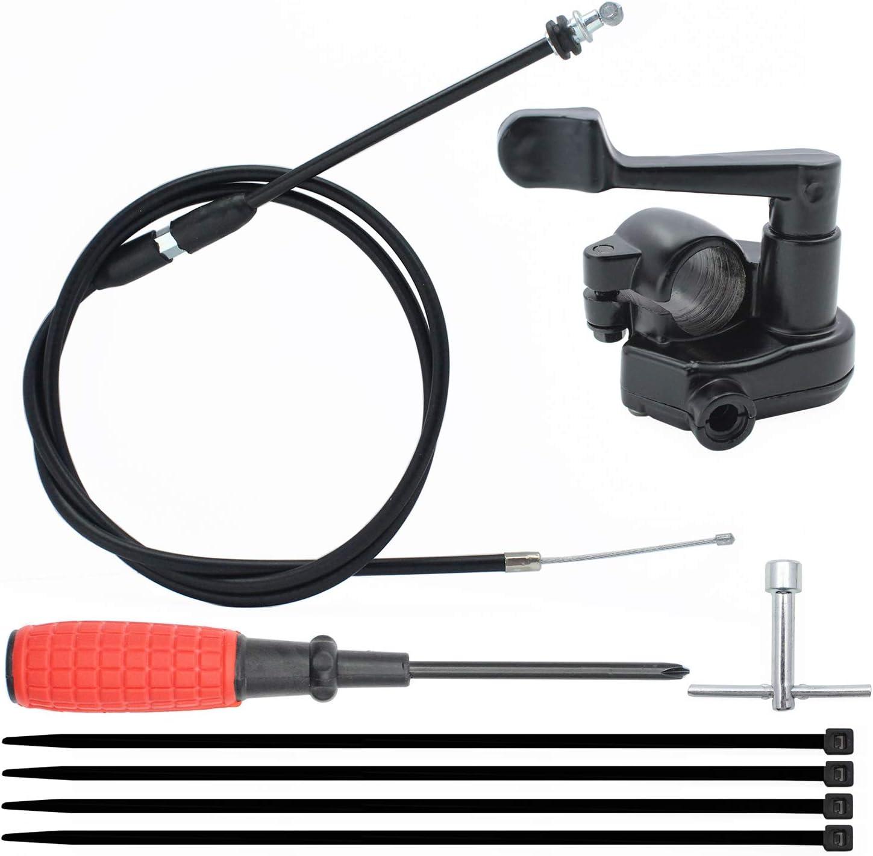 7//8 22mm Thumb Throttle Cable Accelerator Handle Assembly for 50cc 70cc 90cc 110cc 125cc 250cc TaoTao ATV Quad Go Kart 46.5 inches