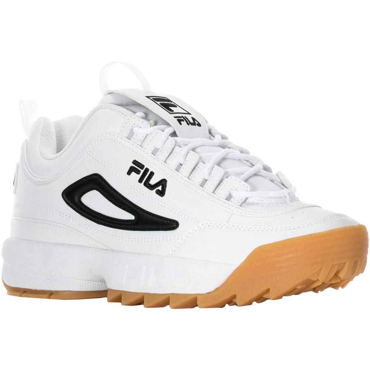 Fila Mens Disruptor II Synthetic White Black Trainers 10 US