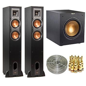 klipsch 12 400 watts wireless subwoofer brushed black vinyl r 12swi. klipsch 2-pack dual floorstanding speaker (1060674) w/ wireless subwoofer bundle includes 12 400 watts brushed black vinyl r 12swi t