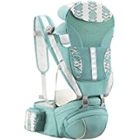 YOOVEE Baby Carrier with Hip Seat, Baby Carrier Newborn to Toddler with Lumbar Support Child 7-33 lbs and Cool Air Mesh…