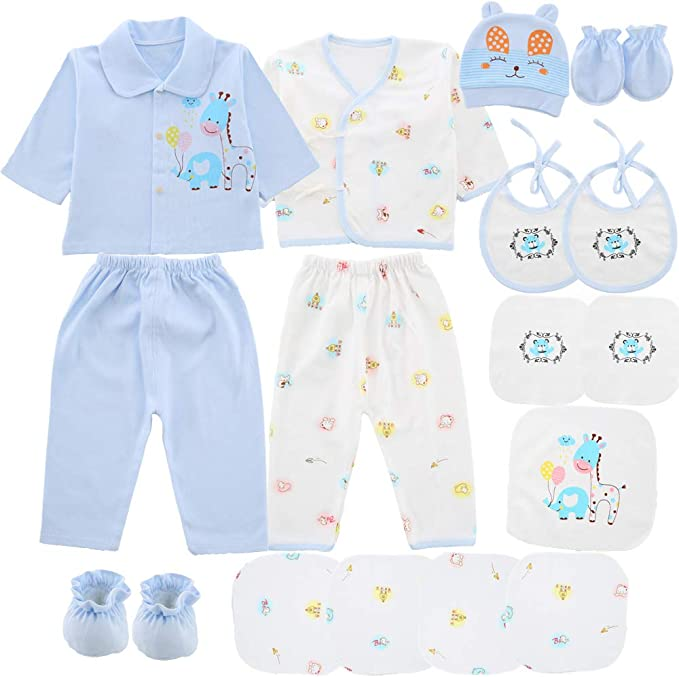 18 Pcs Newborn Baby Clothes Preemie Clothing Newborn Layette Set 0-6 Months
