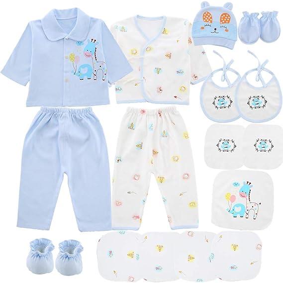 Amazon.com: Juego de 18 piezas de ropa para recién nacido ...