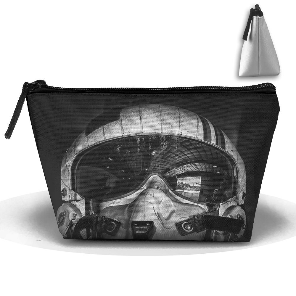 Unisex Stylish And Practical Cool Black And White Pilot Avatar Trapezoidal Storage Bags Handbags