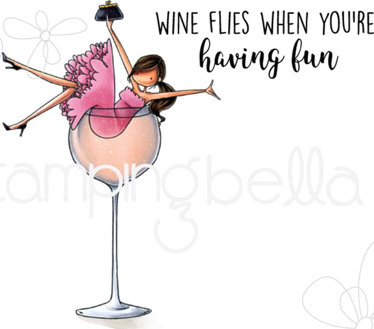 Stamping Bella Cling Stamps-Uptown Girl Wilma Loves Wine