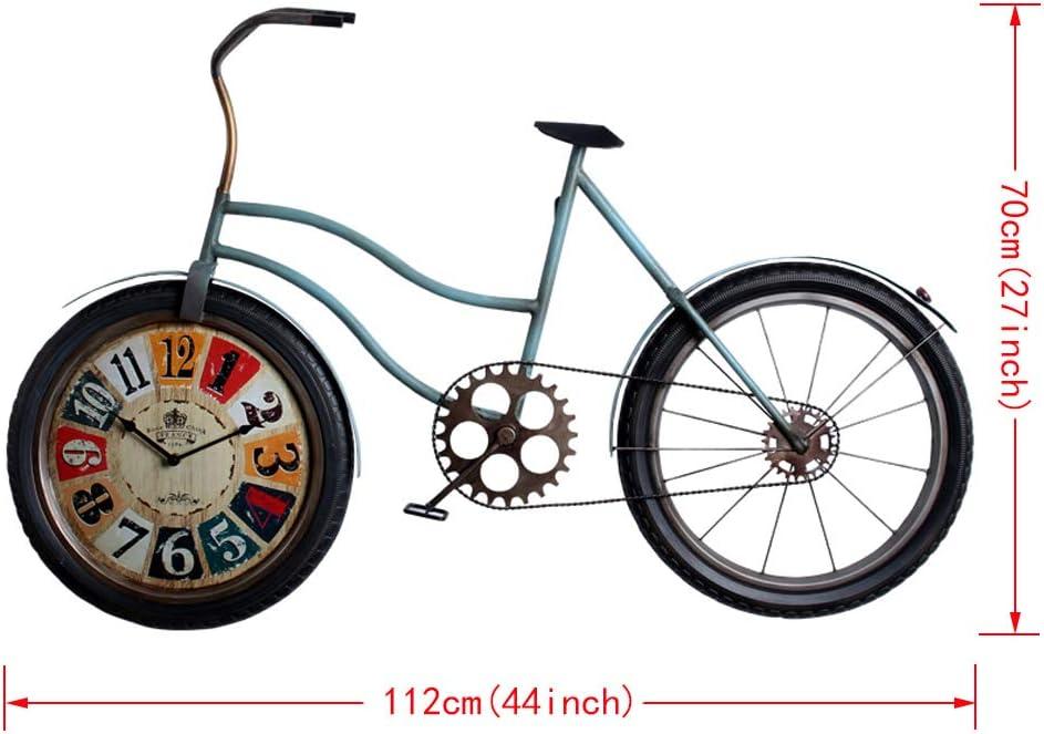 XLYYHZ Iron Art Clocks Cuarzo Bicicleta Shap DecoracióN Reloj De ...