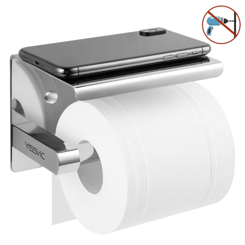 YISSVIC Portarrollos para Papel Higiénico Toallero de Papel Acero Inoxidable 304 con Adhesivo y Tornillos product image