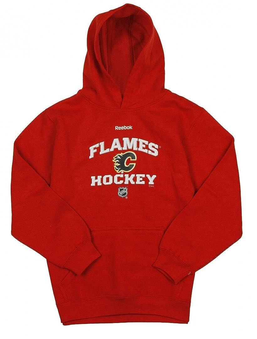 size 40 f1122 84bd0 Calgary Flames NHL Reebok Big Boys Red Fleece Pullover ...