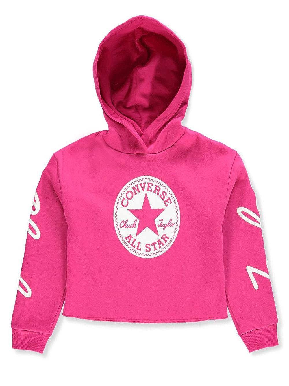 9271d75dda09 Amazon.com  Converse Kids Girl s Chuck Taylor Signature Pullover Hoodie (Big  Kids) Pink Pop Medium  Clothing