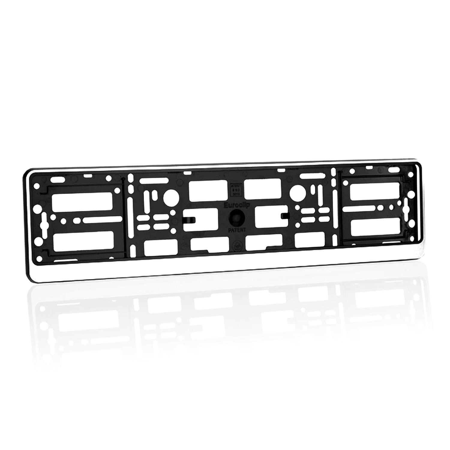 Chrome 2 x Number Plate Holders Frames Licence Plate Surrounds for Any Car