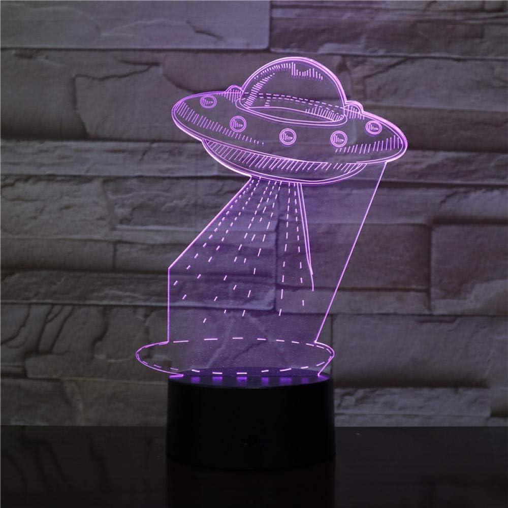 Lampada Illusione 3D Galaxer Lampada Illusione 3D Lampada Illusione 3D Novit/à Ottica Led Touch Light Telecomando 7 Colorsguitarra Cavallo Bianco Torre Eiffel Corpo Umano Palla Per Meditare Torre Eiff