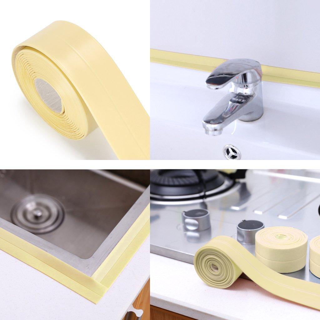 Anti-mildew Tub Sealer Decorative Trim 1-1//2 x 11/' White White Sumnacon Bathtub PE Caulk Strip White Anti-mildew Tub Sealer Decorative Trim 1-1//2 x 11 White Self Adhesive Waterproof Flexible Sealing Tape For Bathtub,Sink,Wall