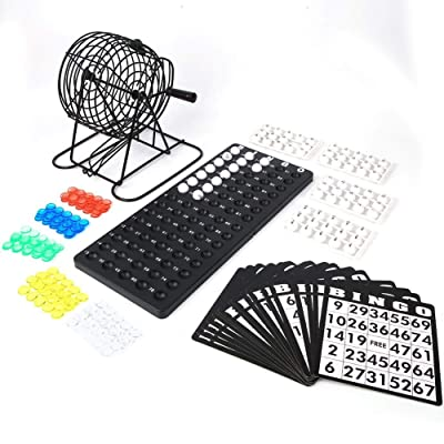 Traditional Wine Set Bingo Game, Great Bingo Lottery Game Set, Lucky Ball Party Lottery Machine Bingo Game for Family, Friends, Entertainment: Home & Kitchen