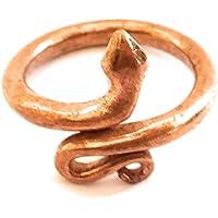 Sivananda Gems and Crafts Adjustable Copper Snake Ring Size - Large