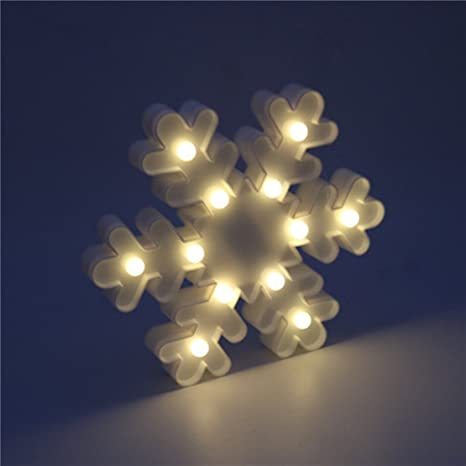 3d Marquee Christmas Light Led Snow Sign Shaped Decor Light Wall