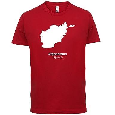 Afghanistan / Islamische Republik Afghanistan Silhouette - Herren T-Shirt -  Rot - XS