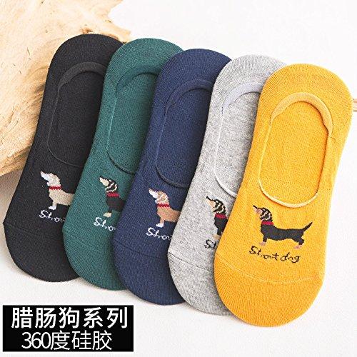 Socke flachen Mund unsichtbar Baumwolle Silikon Rutschfeste Sommer dü nne niedrig Sport Deodorant mä nnlich Dackel Excellent Product