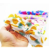 Girzzur (6Pack) 5-10 years old Fabric Headbands for Girls Fruit Pattern