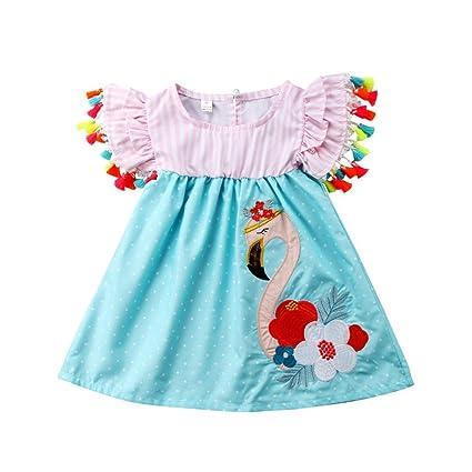 Vestido de flamenco con borlas de flamenco para bebé, de ...