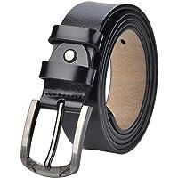 """Women's Leather Belts Unisex Belt for Plus Size 31""""-62"""" Waist Jeans Dresses Suit Casual Pants 1.37Inches Wide Men Waist…"""
