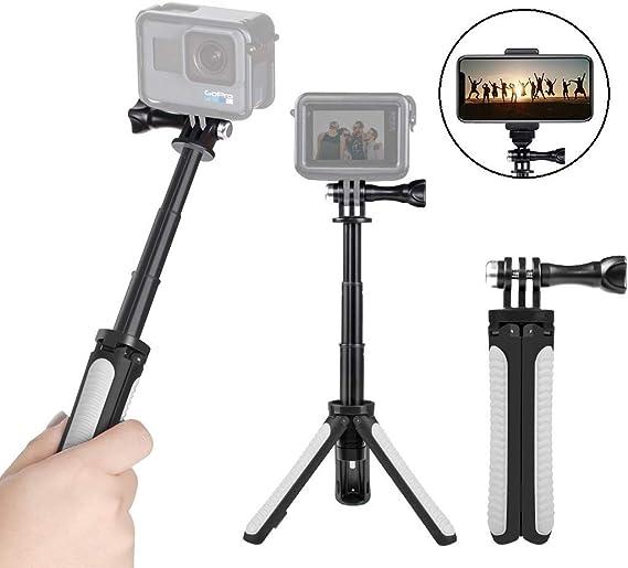 Selfie Stick Extendable Waterproof For GoPro Hero 8 7 6 5 4 3 Rubber Accessories