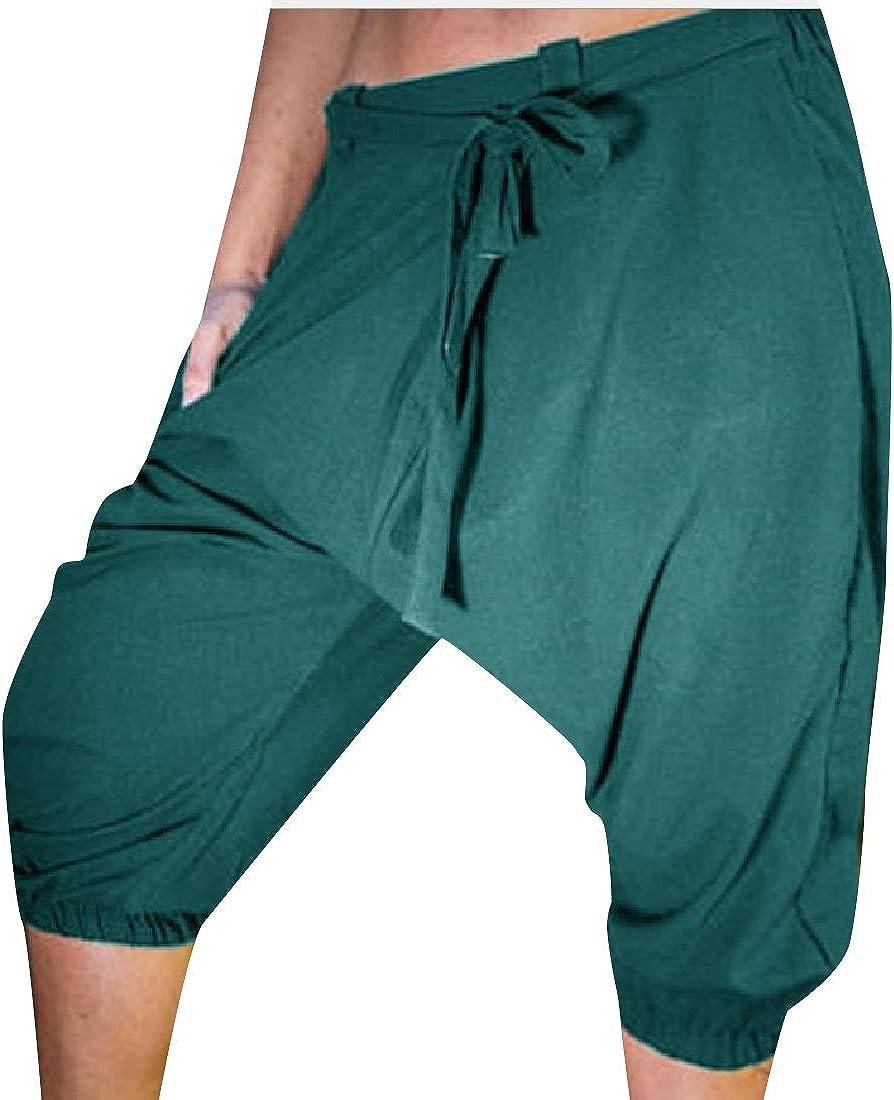 CuteRose Mens Slim-Tapered Pull On Victorian Athletic Harem Pant