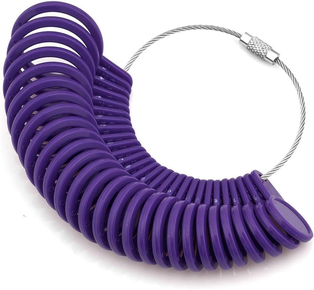 Uniqueen Fingermessger/ät f/ür Ringdurchmesser aus Kunststoff Violett 27 St/ück