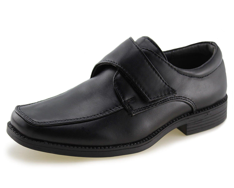 Kids School Uniform Dress Shoes Slip-on Oxford (Toddler/Little Kid)(1,Black-1)